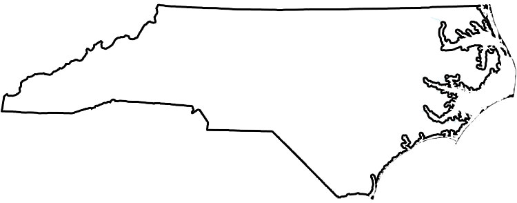 North Carolina Map outline